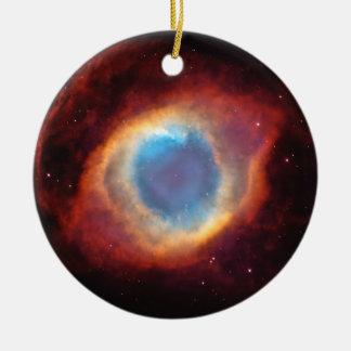 神の螺旋形の星雲の目は赤く青いオーナメントを主演します セラミックオーナメント
