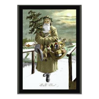 神の7月のスウェーデン語サンタ カード