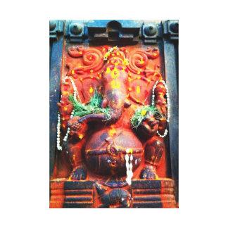 神のGaneshaの彫像 キャンバスプリント