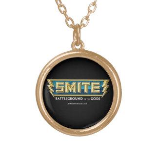 神のSMITEのロゴの戦場 ゴールドプレートネックレス