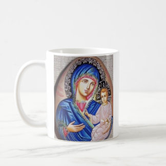 神のTikhvinの驚異働くアイコン コーヒーマグカップ
