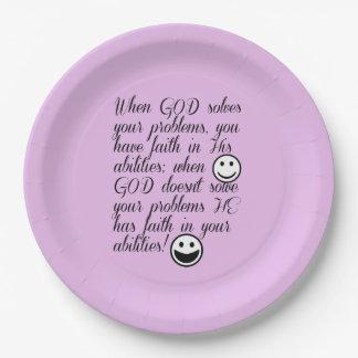 神はあなたの問題を解決します ペーパープレート