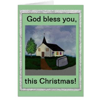 神はこのクリスマスカード賛美します カード
