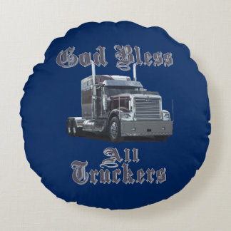 神はすべてのトラック運転手の寝台の枕を賛美します ラウンドクッション