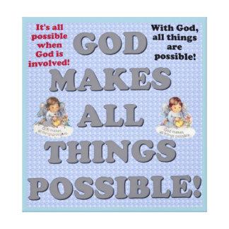 神はすべての事を可能にさせます! キャンバスプリント