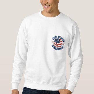 神はアメリカのスエットシャツを賛美します スウェットシャツ