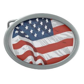 神はアメリカの紋章を賛美します 卵形バックル