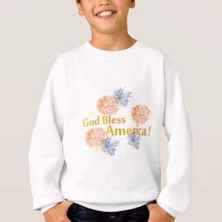 神はアメリカの花火を賛美します スウェットシャツ