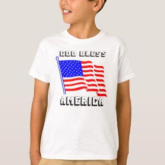 神はアメリカを賛美します Tシャツ