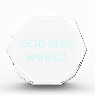 神はアメリカ-カスタマイズ可能なアクリル--を賛美します 表彰盾