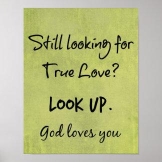 神はキリスト教の引用文愛します ポスター