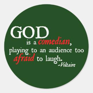 神はコメディアンです ラウンドシール