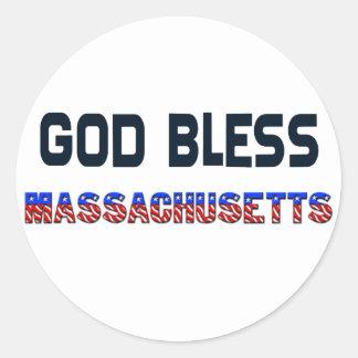 神はマサチューセッツを賛美します ラウンドシール