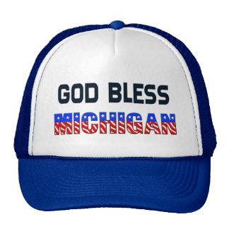 神はミシガン州を賛美します トラッカーキャップ