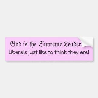 神はリーダーです バンパーステッカー