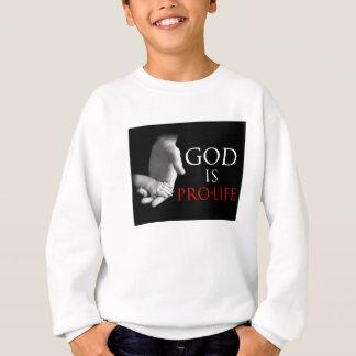 神は妊娠中絶反対です スウェットシャツ