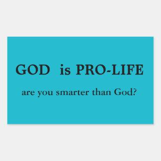 神は妊娠中絶反対です 長方形シール