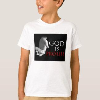 神は妊娠中絶反対です Tシャツ