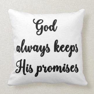 神は彼の約束の枕を常に保ちます クッション