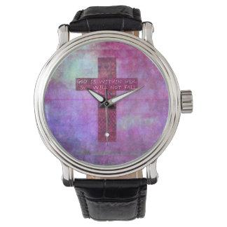 神は彼女の内に高揚の聖書の詩の賛美歌の46:5です 腕時計
