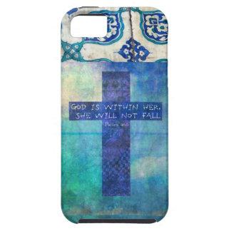 神は彼女の内に高揚の聖書の詩の賛美歌の46:5です iPhone SE/5/5s ケース