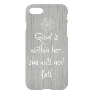 神は彼女の内に、彼女詩ころびません聖書のあります iPhone 8/7 ケース