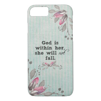 神は彼女の聖書の詩の内にあります iPhone 8/7ケース
