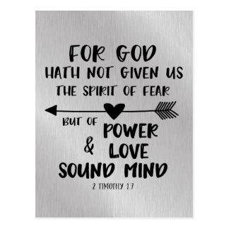 神は恐れの聖書の詩の精神を与えませんでした ポストカード