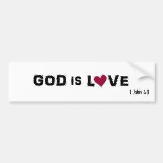 神は愛、ジョンの1 4:8です バンパーステッカー