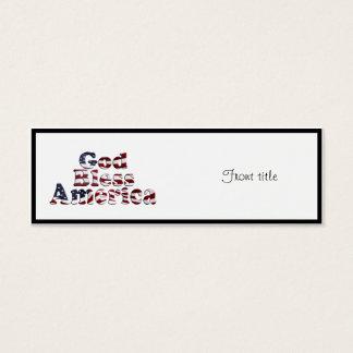 神は文字デザインなアメリカの旗を賛美します スキニー名刺