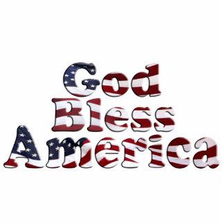 神は文字デザインなアメリカの旗を賛美します フォトスカルプチャー