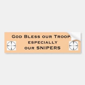 神は特別な私達の軍隊を…賛美します バンパーステッカー