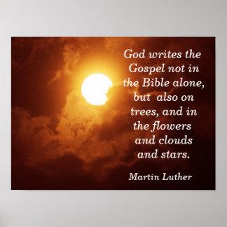 神は福音-芸術のプリント--を書きます ポスター