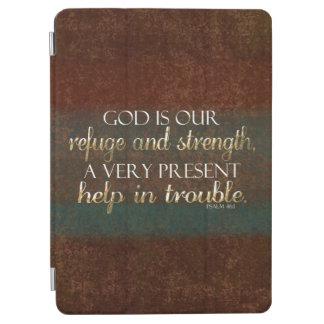神は私達の非難のキリスト教の聖書の詩ブラウンまたは金ゴールドです iPad AIR カバー