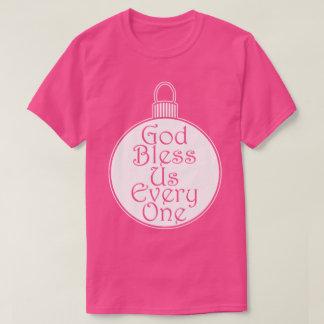 神は私達を皆クリスマスツリーのつまらないもののクリスマス賛美します Tシャツ