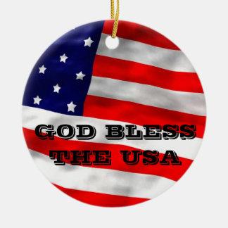 神は米国のオーナメントを賛美します セラミックオーナメント