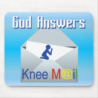神は膝郵便キリスト教のマウスパッドに答えます マウスパッド