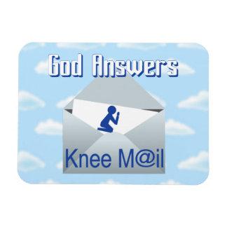 神は膝郵便ギフトの磁石に答えます マグネット