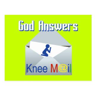 神は膝郵便ギフトの郵便はがきに答えます ポストカード