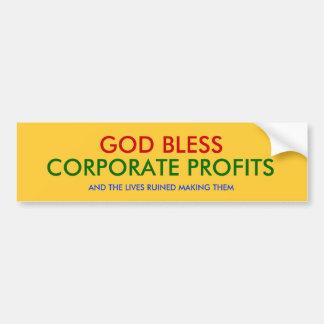 神は、企業のな利益および生命RUI…賛美します バンパーステッカー