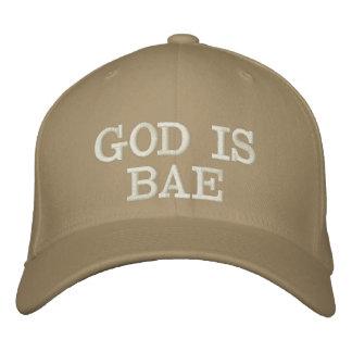 神はBAEのカーキ色の帽子です 刺繍入りキャップ