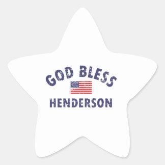 神はHENDERSONを賛美します 星シール