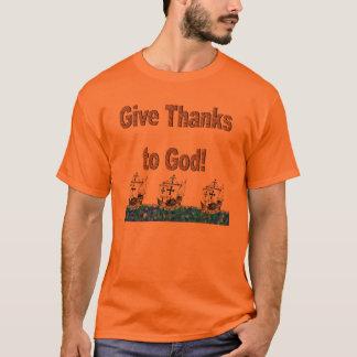 神への感謝を与えて下さい Tシャツ