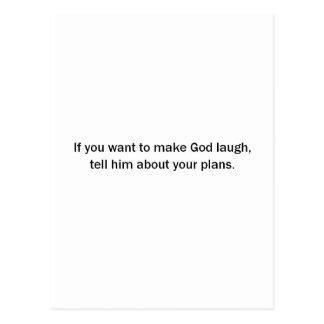神を笑わせるたいと思えば(St.K) ポストカード