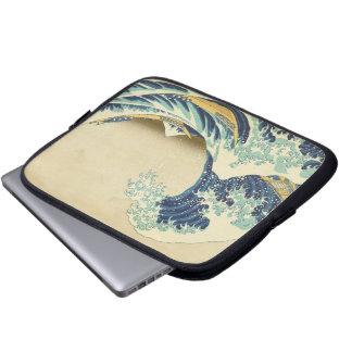 神奈川のラップトップの箱の海岸の沖の素晴らしい波 ラップトップスリーブ