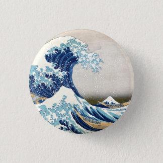 神奈川のヴィンテージの日本人の罰金を離れた素晴らしい波 3.2CM 丸型バッジ
