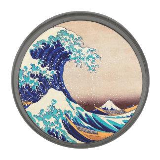 神奈川の日本のなヴィンテージのファインアートを離れた素晴らしい波 ガンメタルラペルピン