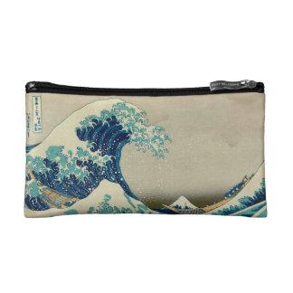 神奈川を離れた素晴らしい波 コスメティックバッグ