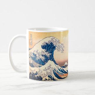 神奈川を離れた素晴らしい波 コーヒーマグカップ
