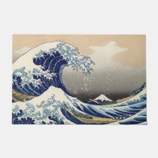 神奈川を離れた素晴らしい波 ドアマット